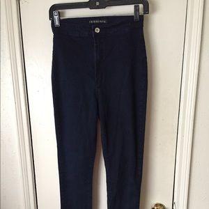  FASHION NOVA  High Waisted Dark Skinny Jeans